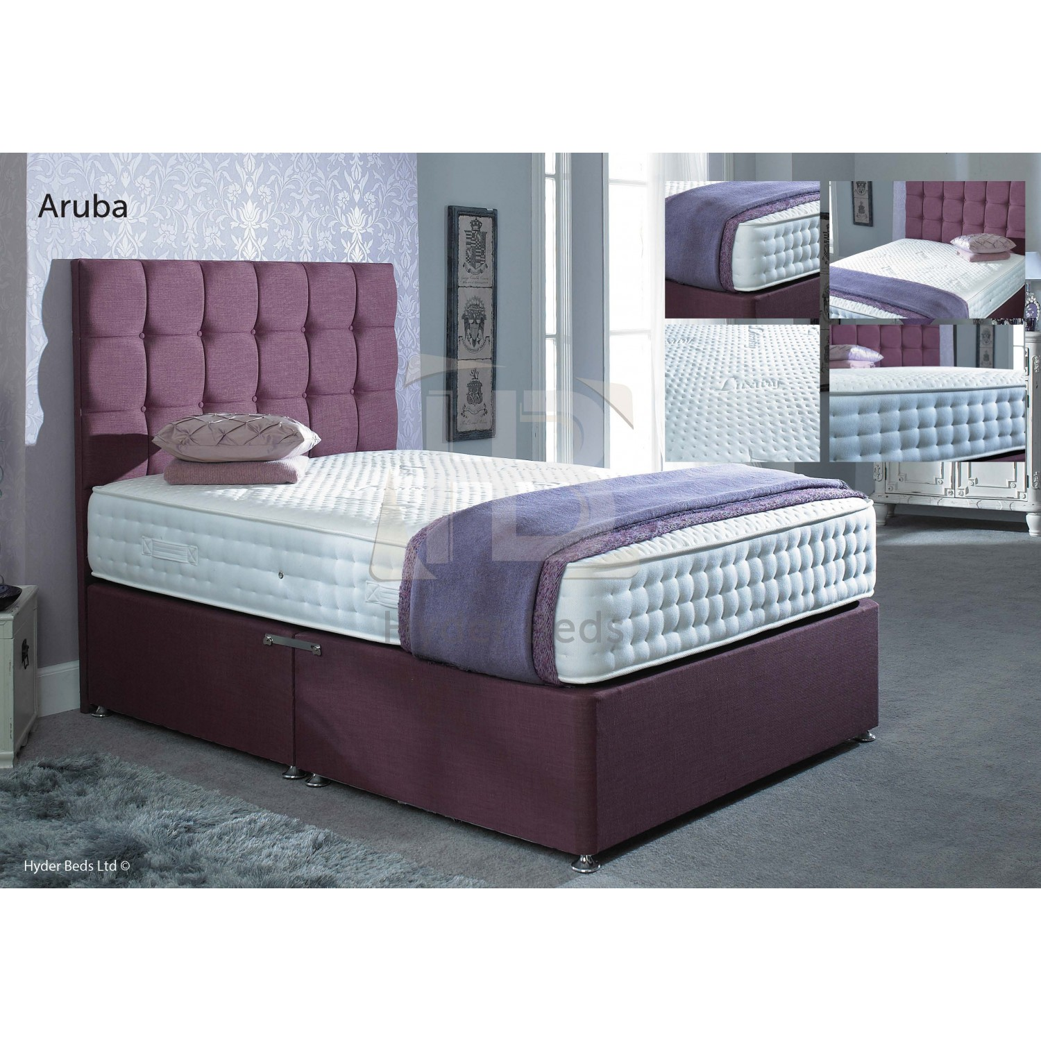 .Hyder Beds Aruba Latex 1000 Encapsulated Pocket Divan Set